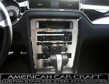 2010-2014 Ford Mustang Center Dash Console Radio A/C Trim Plate Brushed Finish