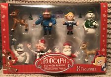 Rudolph The Red Nosed Reindeer 8 Figurines New