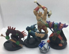Lot Of 4 WOW PREPAINTED MINIATURES Set I Orc Party For RPG Tabletop DND