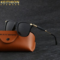 KEITHION Classic Style Sunglasses Mens Polarized Square Driving Mirrored Eyewear