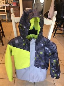 DC Shoes 10K Hooded Waterproof Snowboarding Jacket Insulated Ski Coat Youth Sz M