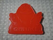Vintage 1980 McDonald Grimace Red Plastic Cookie Cutter