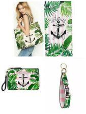 Victoria Secret in Paradise Tote Beach Bag Towel Wristlet Strap Keychain NWT Lot