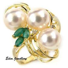 US$949 Beautiful Freshwater Pearl & Amethyst Ring 14K Gold Size 7.25 80% OFF