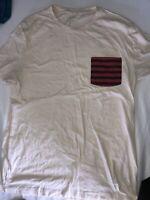 J Crew Men NWOT Size Large Off White Pocket T Shirt Tee
