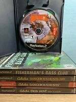 Playstation 2 / PS2: 5 Game Lot : Cabela's Hunting Fishing