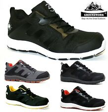 MENS GROUNDWORK ULTRA LIGHTWEIGHT STEEL TOE CAP SAFETY TRAINERS SHOES BOOTS SIZE