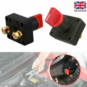 BATTERY ISOLATOR SWITCH CUT OFF DISCONNECT TERMINAL UNIVERSAL CAR VAN BOAT 12V