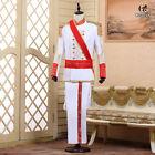 Renaissance Men King Prince Party Cosplay Costume Jacket Pant Suits Medieval Set