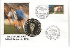 Fußball Weltmeister 1990 schöner Numisbrief