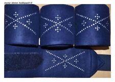 ⭐️⭐EQUI-THEME 4er-Set Fleecebandagen TECHNICAL WEAR 300cm NEU⭐️⭐️ schokobraun