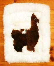 Alpaka Fell Kissen Kissenhülle Wandbehang 38x48 cm, Alpaca Lama Sofa Sessel Peru