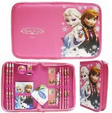 13PC FROZEN PINK OLAF ELSA AND ANNA STATIONARY SCHOOL SUPPLY CARRYING POUCH