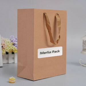 120x Kraft Natural Paper Shopping Bag Mens Clothing Recyclable Loot Carrier Bag