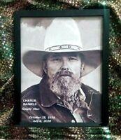"Charlie Daniels ""Memorial Photo""  SIMPLE MAN album cover w-birth & death dates"