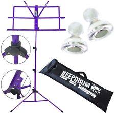 KEEPDRUM MUS2FL Notenstaender Lila + Tasche + 2 Magnete