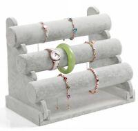 Armbandständer Schmuckständer Uhrenständer Schmuckhalter 3 Trägerrollen grau NEU