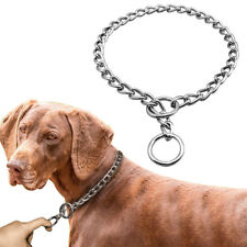 Chrome P Chock Metal Chain Training Dog Collars Stainless Steel Necklace 6 Sizes
