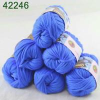 Sale New 6Skeinsx50g Soft Worsted Cotton Chunky Hand Knitting Baby Quick Yarn 46