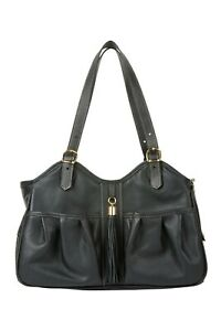 PETOTE METRO Midnight with Leather Tassel Tote Dog Carrier Bag 3 Sizes