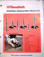 B F Goodrich Roofing Insulation Products ASBESTOS 1979