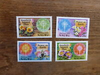 NAURU 1979 CHRISTMAS SET 4 MINT STAMPS