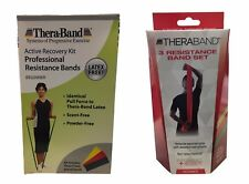 Thera-Band Therapy Recovery PT Latex Free BEGINNER 3 RESISTANCE BAND Set Pilates