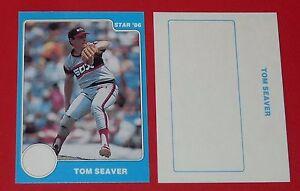 TOM SEAVER STAR 86 WHITE SOX CHICAGO BASEBALL CARD 1986