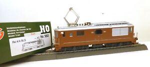 """HAG H0 180 E-Lok BR Re 4/4 BLS, # 162 """"Court"""" Metallmodell f. Märklin/AC   D45"""