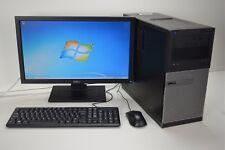 "DELL TOWER PC INTEL i5 QUAD 2nd Gen 500 GB HDD 8 GB DDR3 WIN 7 20"" WIDE TFT WIFI"