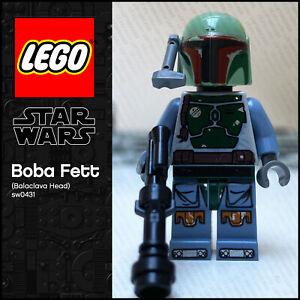 GENUINE LEGO Star Wars Minifigure Boba Fett (Balaclava Head) sw0431 Mandalorian