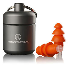 Titan Tactical 29NRR Reusable Shooting Ear Plugs w/ Removable Filter + Case