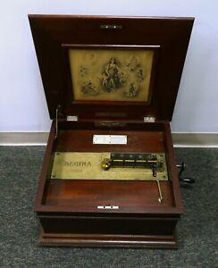 Antique Regina Music Box Tested & Working - Includes 15 1/2 Inch Discs