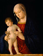 Oil painting giovanni bellini - the Virgin Mary Madonna with child canvas