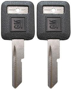 "2 NEW GM Logo OEM IGNITION ""E"" Key Blank Uncut 595311 B44P B44 01154606 56-E"
