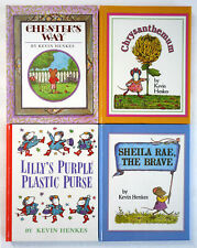Kevin Henkes Lot 4 HC: Chester's Way, Chrysanthemum, Lilly's Purse, Sheila Rae