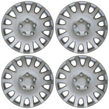"4 Pc Set of 16"" Inch ABS Silver Hub Caps Wheel Cover for OEM Steel Rim Caps"
