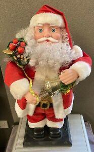 "16"" Fiber Optic Santa Claus Holding A Christmas Bell"