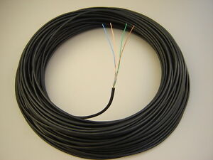 BT Manufactured Solid Copper External 10m 2 Pair CW1308 Black Telephone Cable