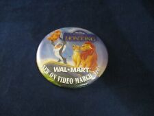 Wal-Mart Promo Pin Button Pinback Disney's The Lion King Movie Vhs