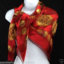 Ancient Coins Women's Scarf Money Striped Scarfs Gift Fashion Red Scarves
