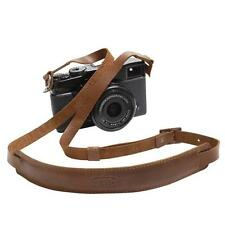 Genuine Leather Camera Mirrorless Shoulder Neck Strap Leica Sony Fuji Brown