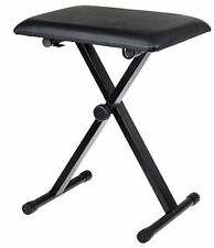 Adjustable Piano Bench Piano Keyboard Chair Padded Seat Rubber Feet Steel