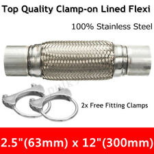 2.5'' x 12'' 63x300mm Exhaust Clamp-on Flexi Tube Joint Pipe Repair Flexible AU