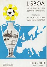 FOOTBALL  POSTCARD  -  THE SPORTING POSTCARD CO. -  FOOTBALL EUROPEAN CUP  1967