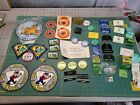 Vintage Rockhound Gem Mineral Society Patch Pin Decal Medal Ribbon Nametag Lot