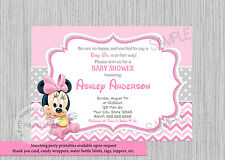 Minnie Mouse Baby Shower Invitations eBay