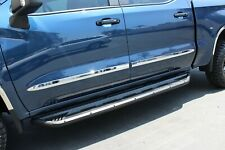 2019-2020 Chevrolet Silverado Crew Cab Chrome Side Door Body Molding Trim 2""