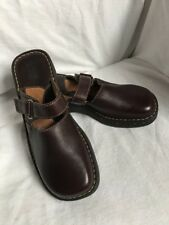 BORN Mary Jane Leather Clogs 9 40.5