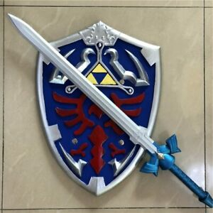 Skyward Sword and Shield Cosplay Legend of Zelda Link Hylian Master Prop Toy Gif